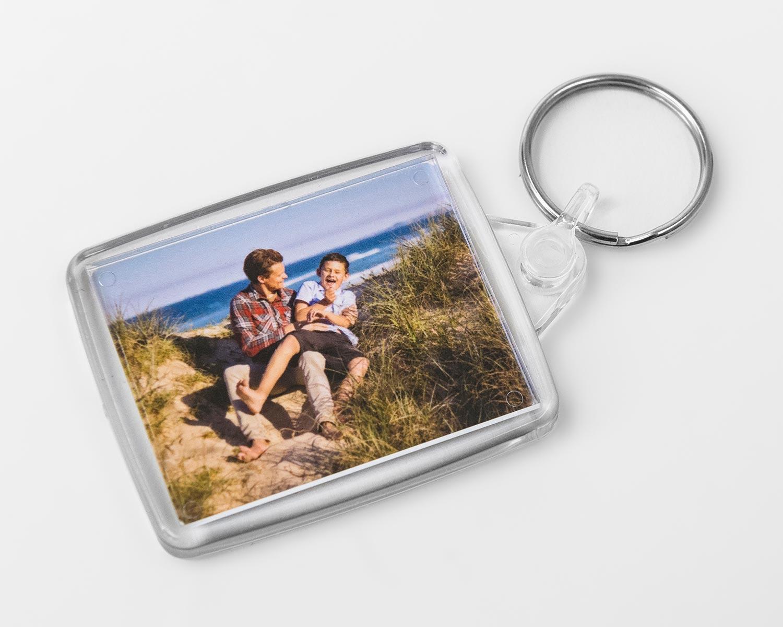 Acrylic photo keyring