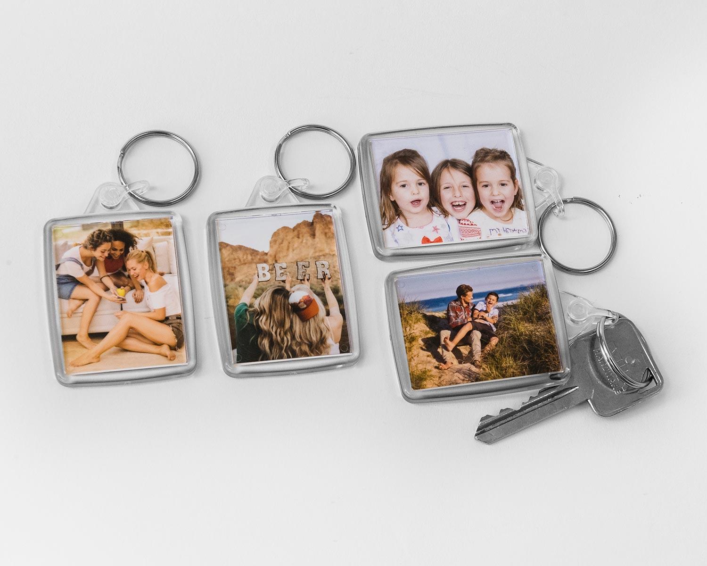 Acrylic photo keyrings