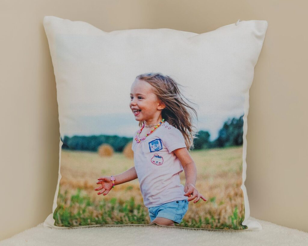 Canvas photo cushion