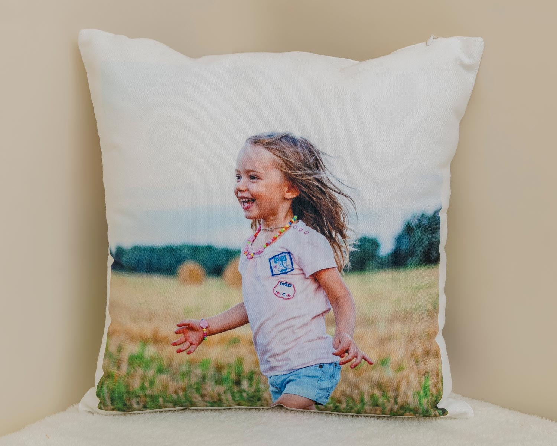 Canvas photo cushion