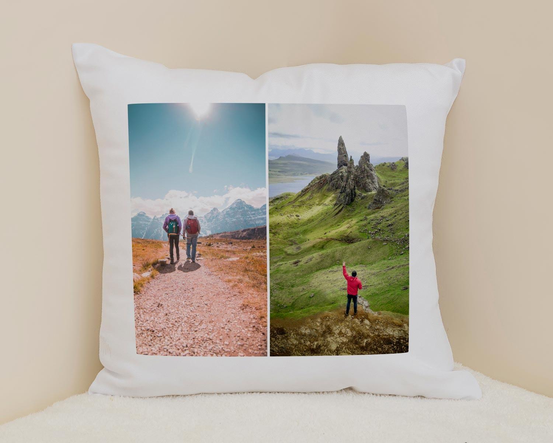 Personalised photo collage cushion