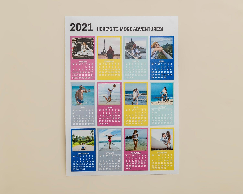 12 photo poster wall calendar
