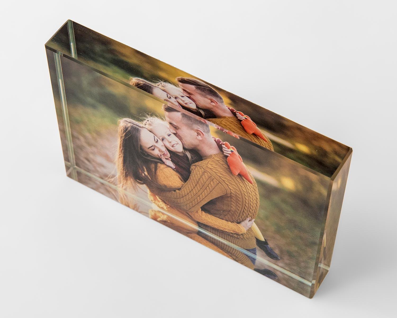 Crytal photo block 3D appearance