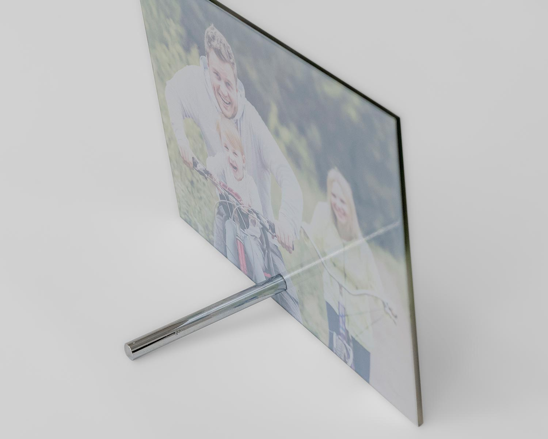 Glass photo frame rod