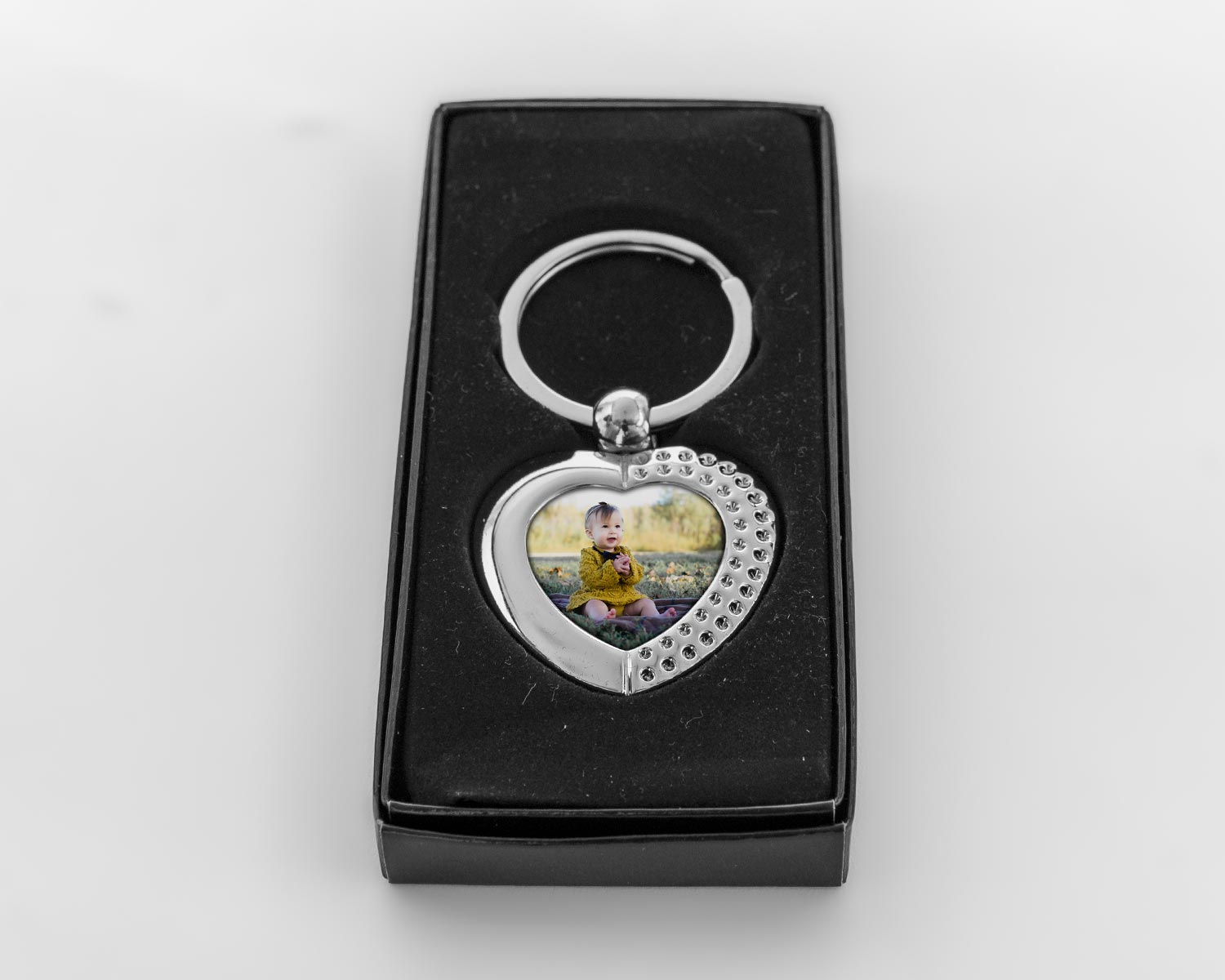 Heart keyring in giftbox