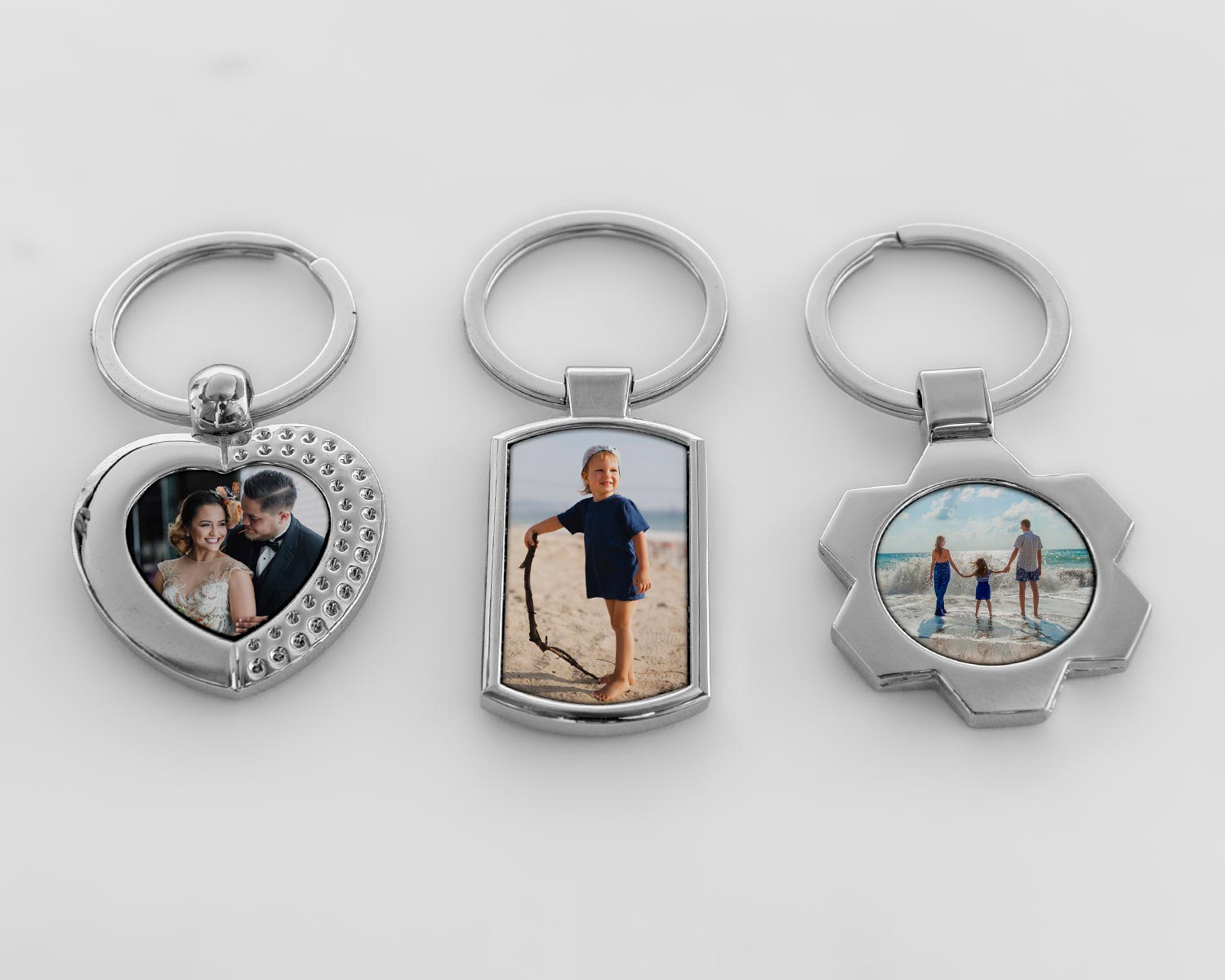 Range of metal keyrings