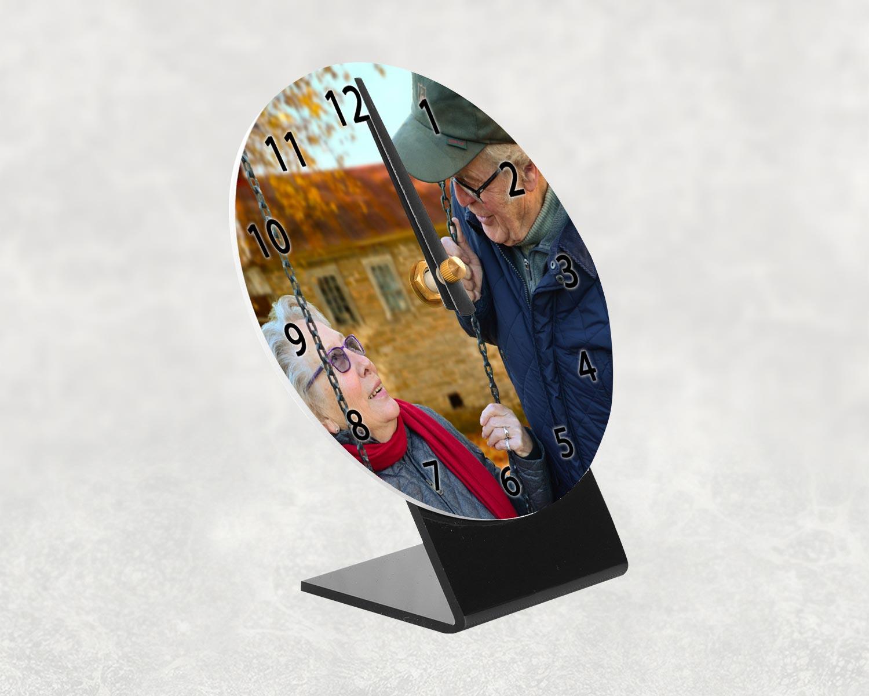 Personalised photo desk clock