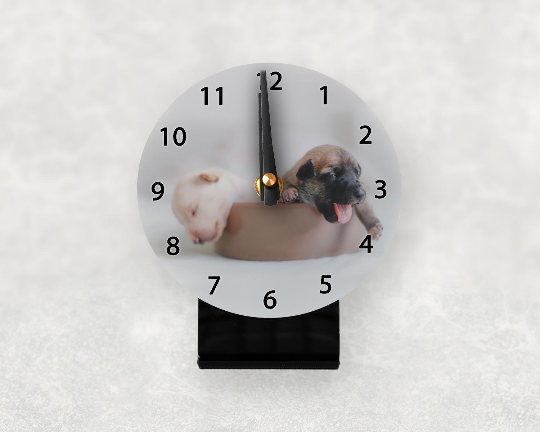 Personalised desk clock