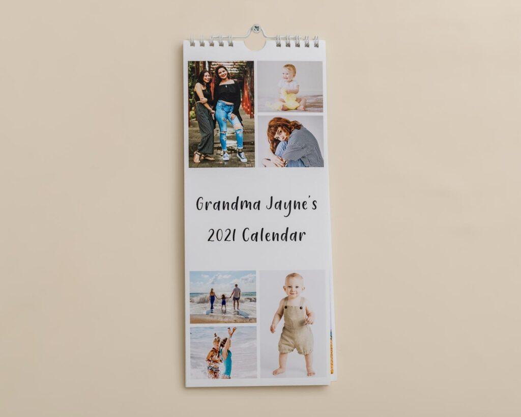 Slim photo calendar cover
