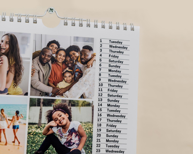 Square calendar detail
