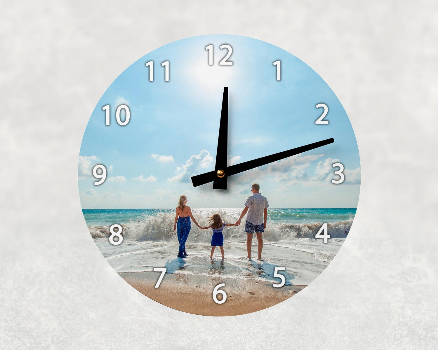 Personalised aluminium wall clock