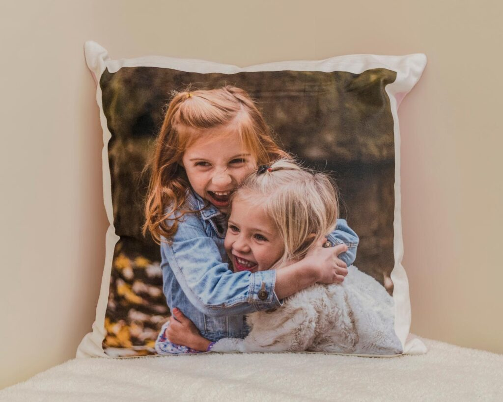Photo on soft cushion