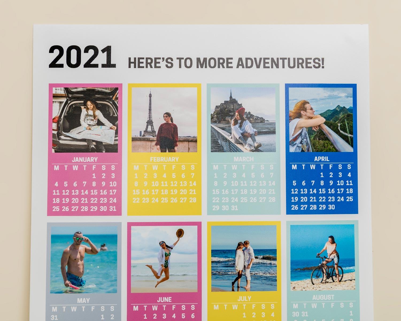 Poster calendar closeup