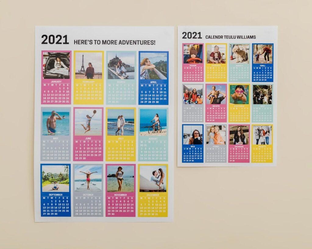 A4 & A4 Wall Calendars