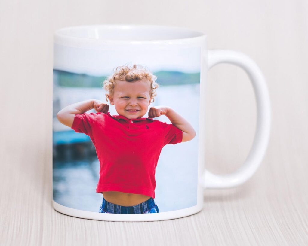 Ceramic photo mug with a picture printed