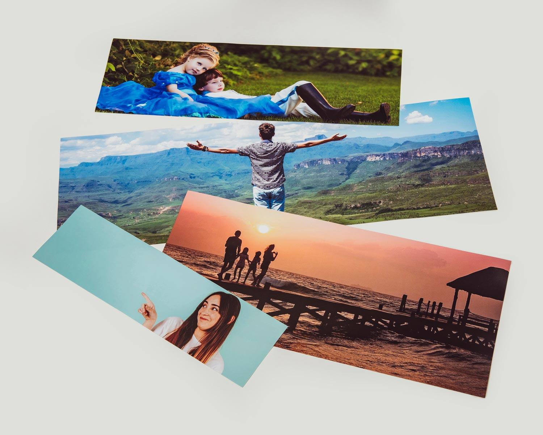 Panoramic photos printed