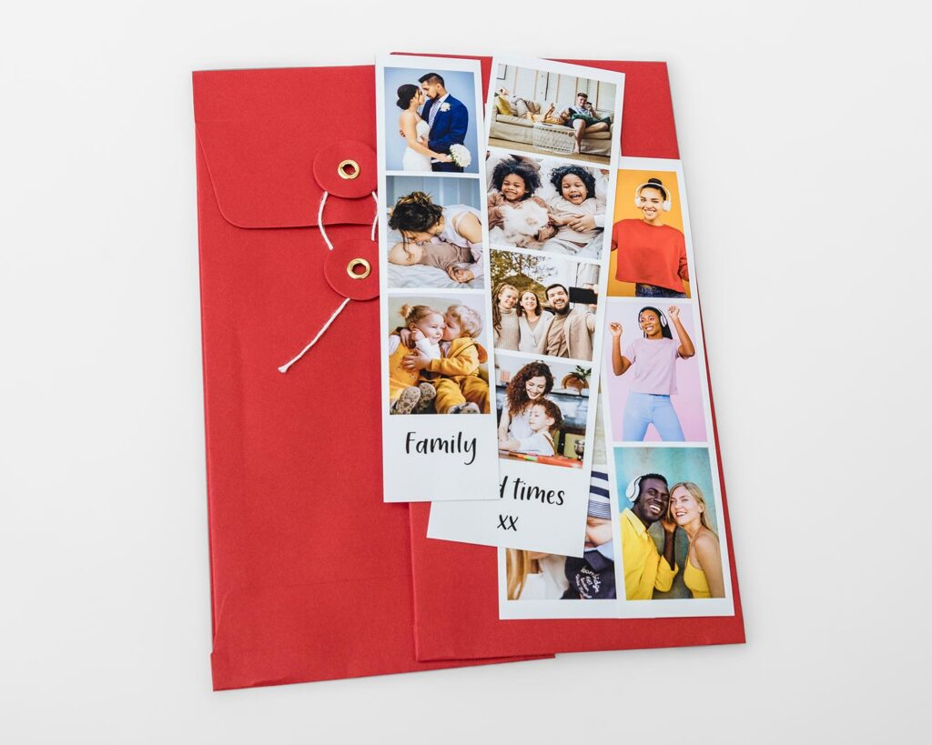 Photo booth strips and envelope