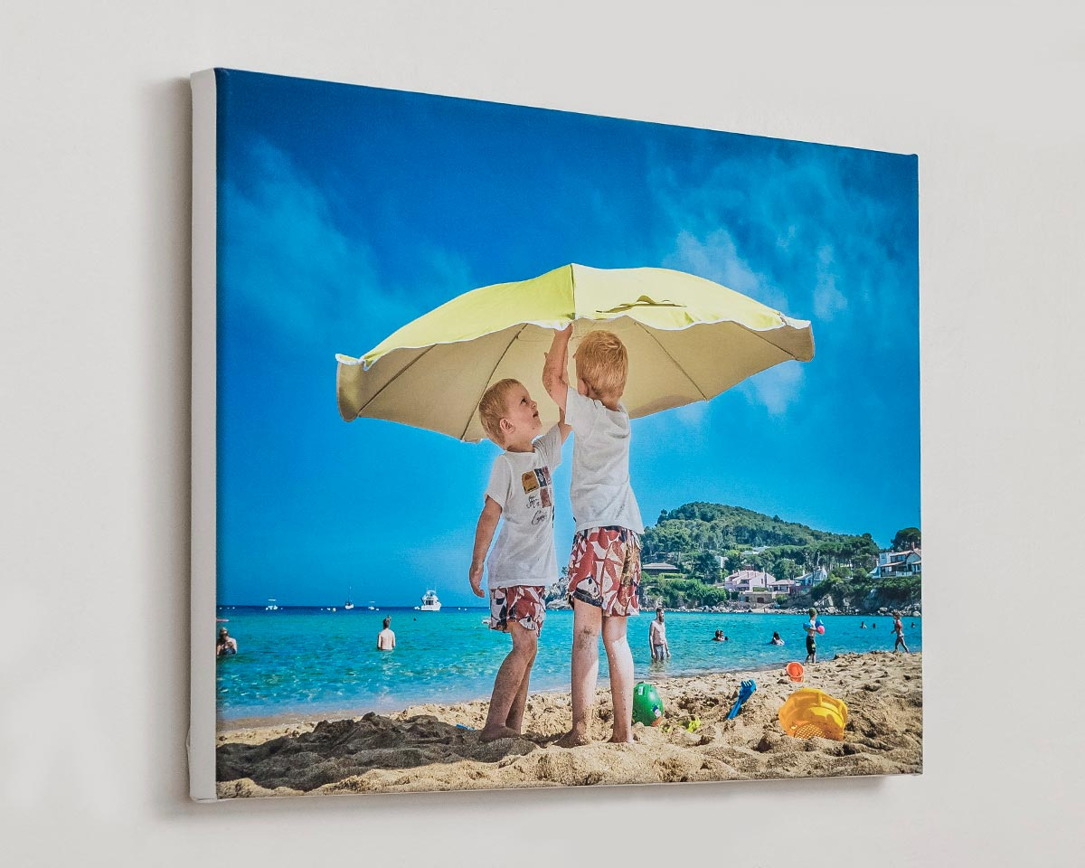 Personalised Canvas Print with printed photo on wall