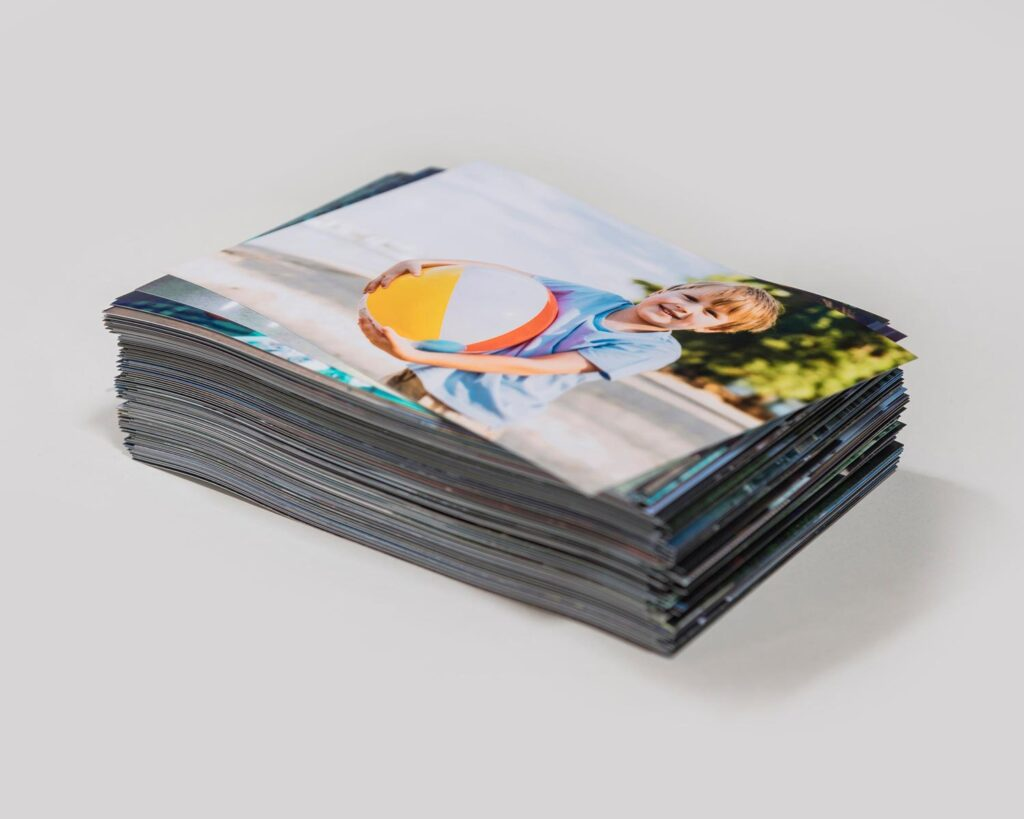 Stack of photo prints
