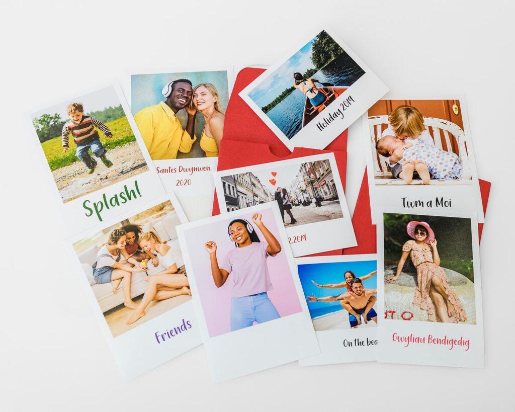 Retro prints with envelope