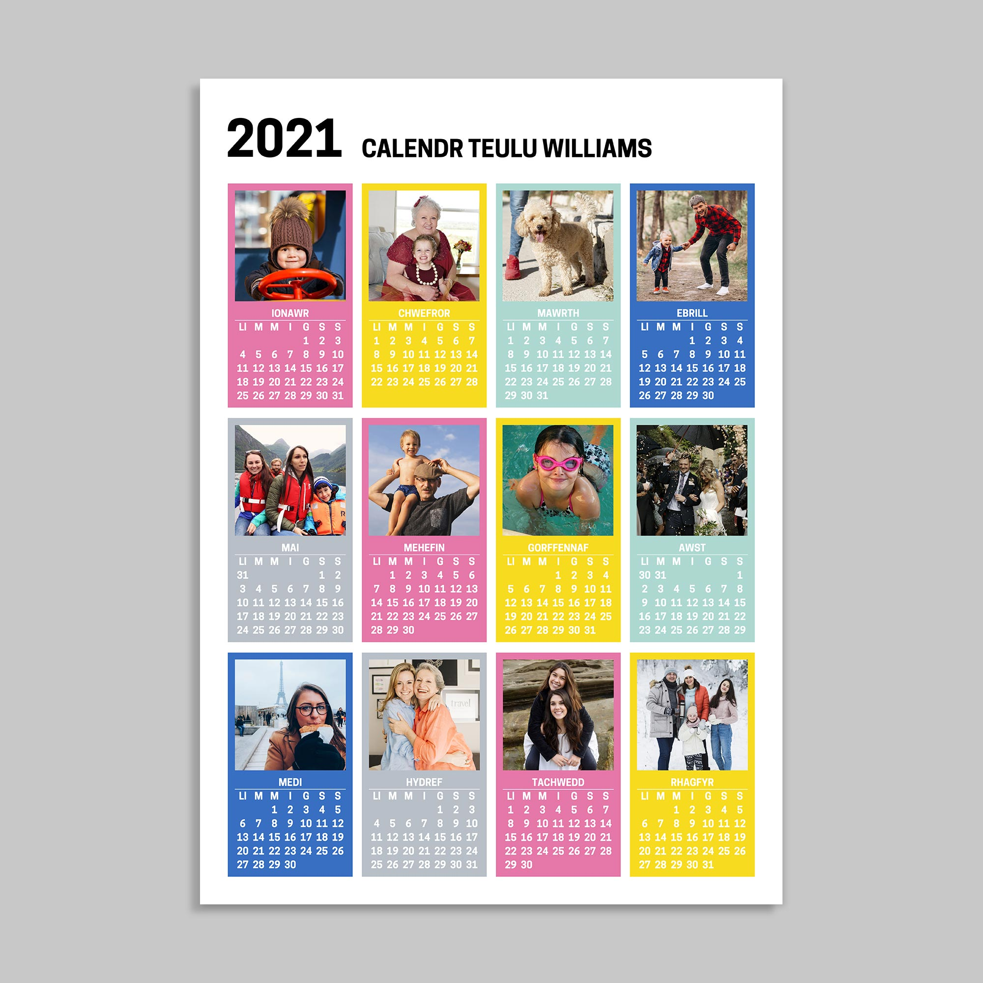 Poster Personalised Welsh Calendar