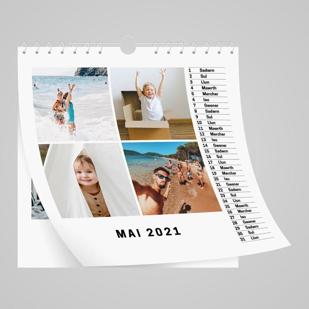 Square Personalised Welsh Calendar