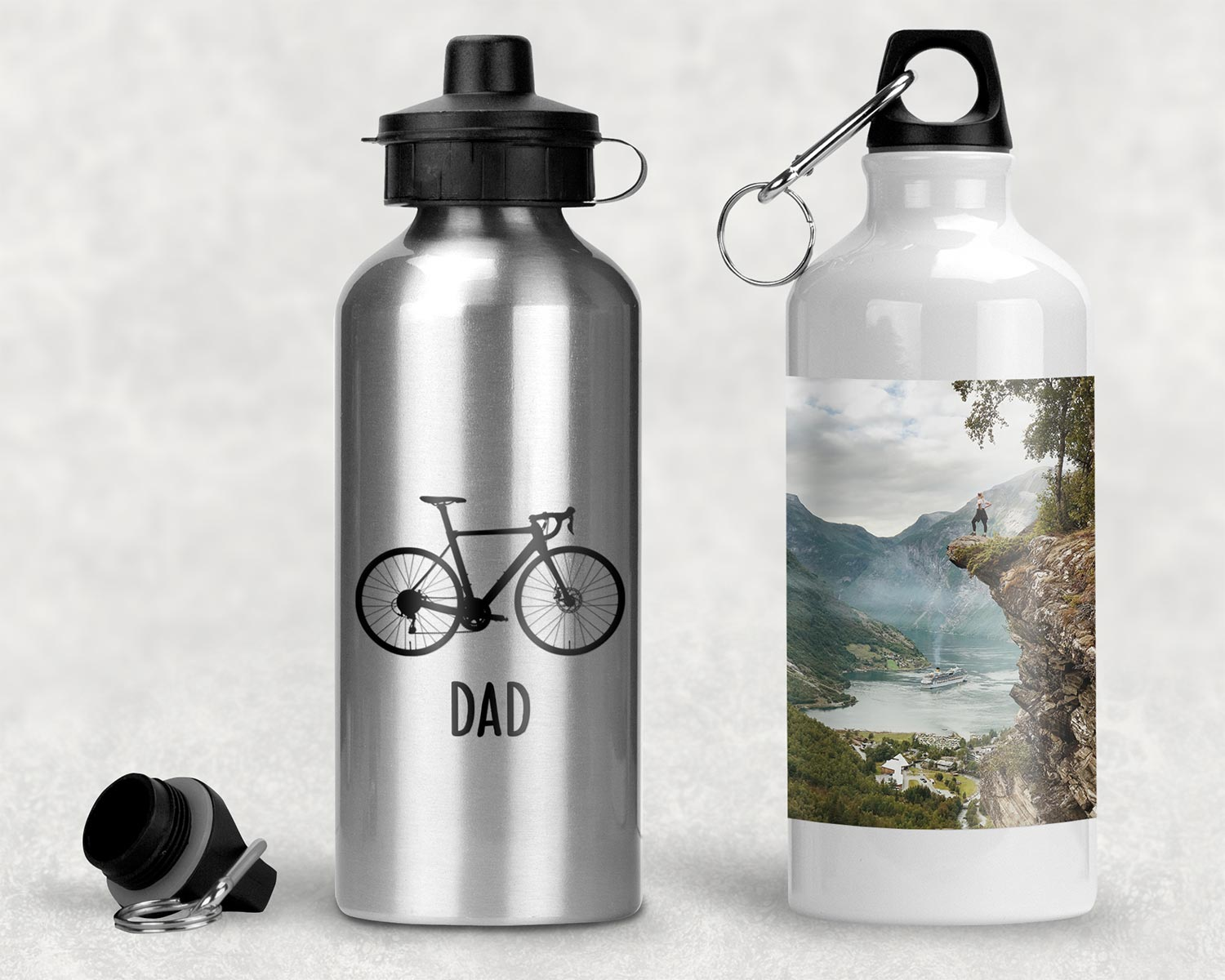 Aluminium personalised water bottles