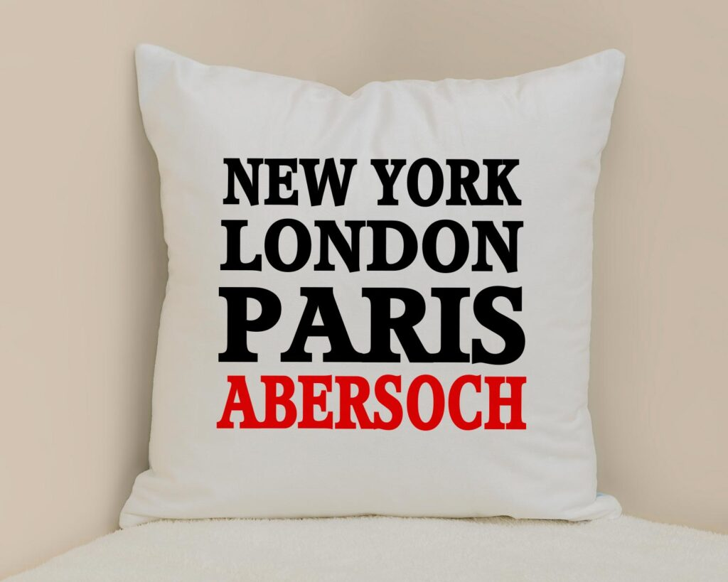 Designed personalised cushion