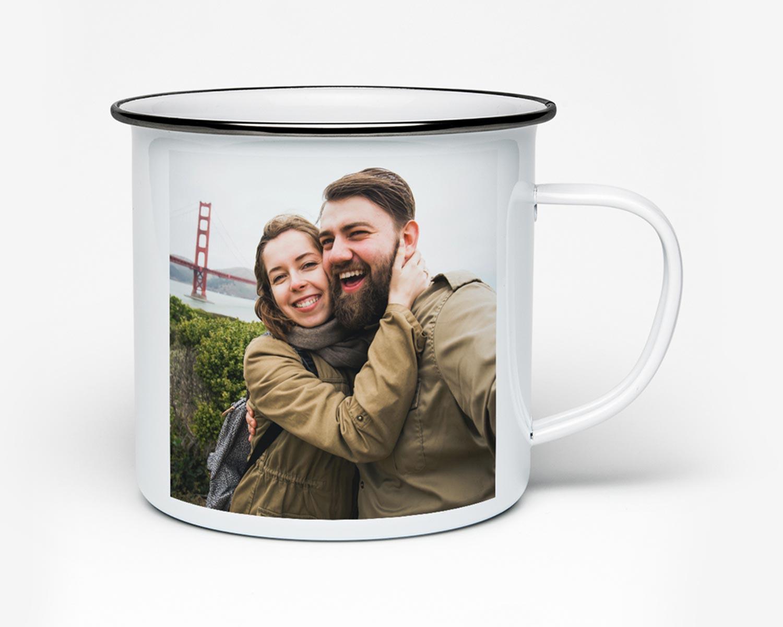 Enamel photo mug