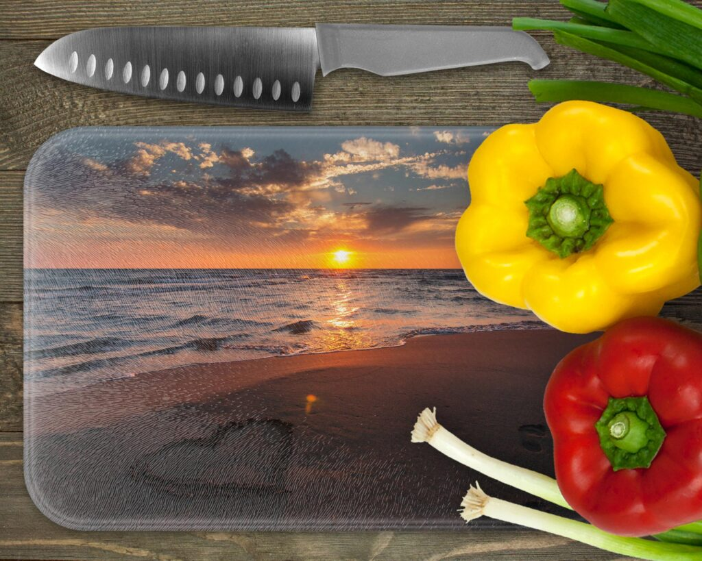 Large rectangle photo chopping board