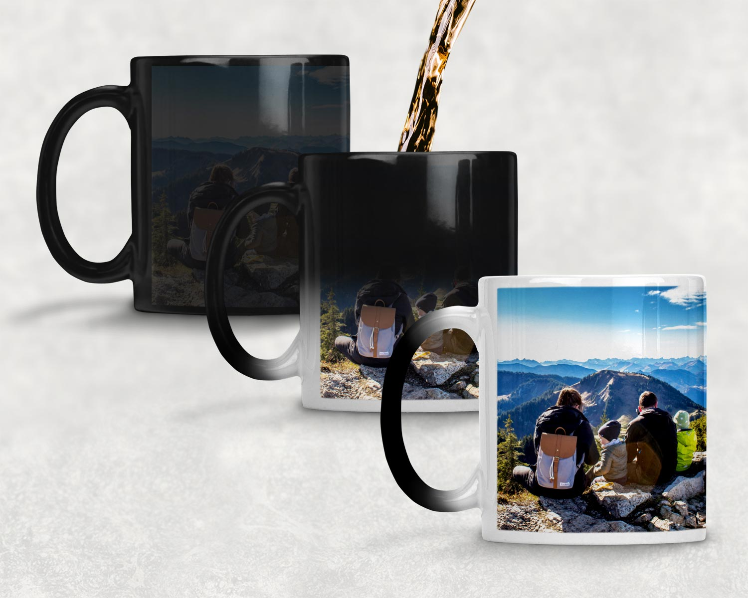 Magic mug transition