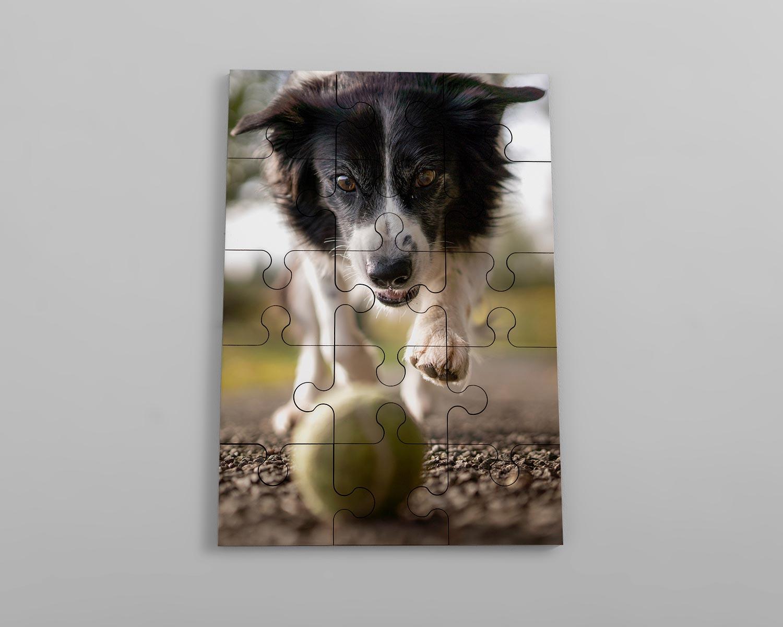 Wooden photo jigsaw