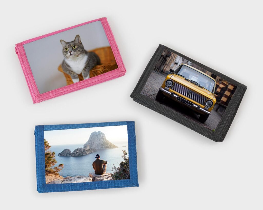 Range of photo wallets colours