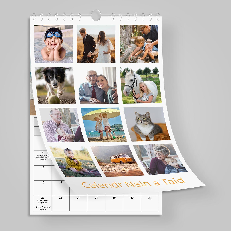 A4 - Calendr Cymraeg Llun y Mis - Photo a Month Welsh Calendar - Clawr 12 Llun