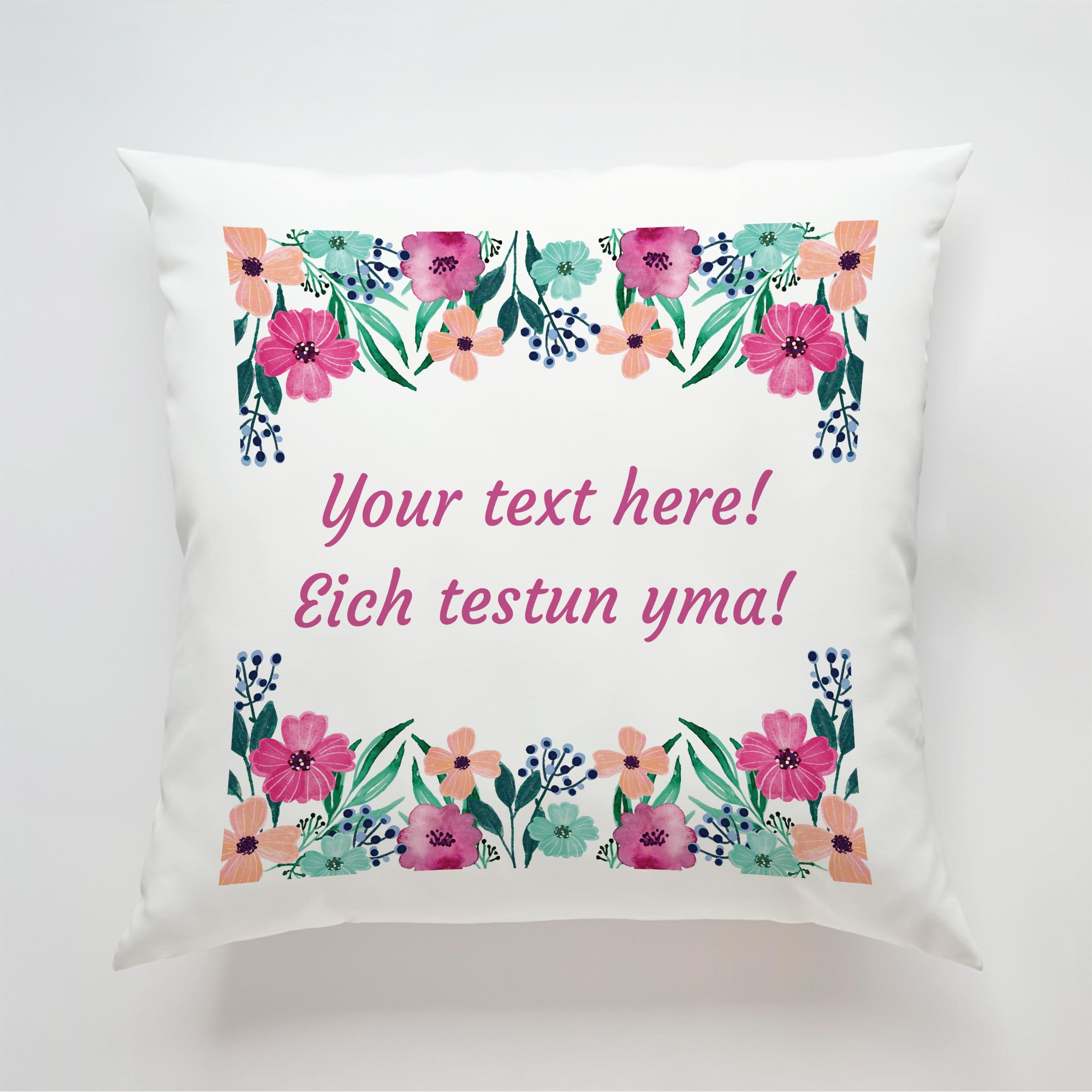 Flower-Text-Cushion